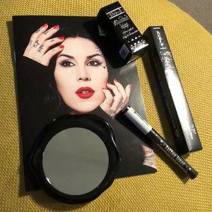 Bundle of Kat Von D makeup with mirror